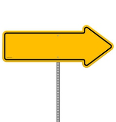 Yellow direction sign vector
