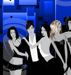 Nightclub scene vector