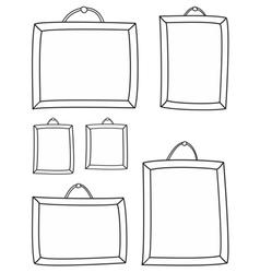 Hand drawn decorative photo frames on white vector