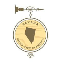 Vintage label nevada vector