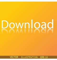 Download now icon symbol flat modern web design vector