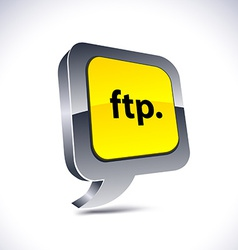 Ftp 3d balloon button vector