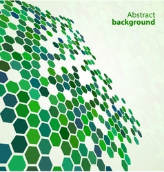 Green abstract digital background vector