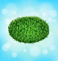Green grass oval on sky vector