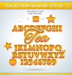 Tea graphic styles for design use for decor text vector