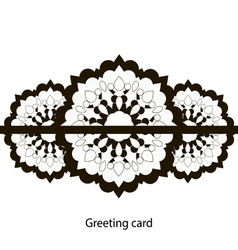 Greeting card black and white vector
