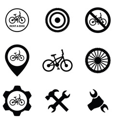 Bicycle service 9 icons set vector