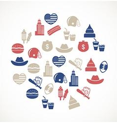 American symbols vector