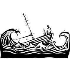 Sinking boat vector