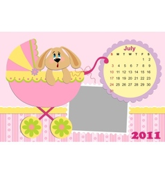 Babys monthly calendar for july 2011s vector