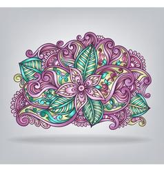 Decorative flower composition vector