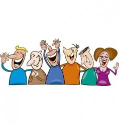 Cartoon laughing people vector