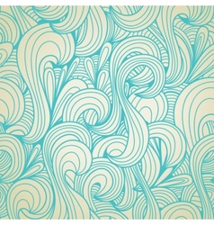 Retro swirls seamless wallpaper vector