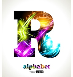 Design abstract letter r vector