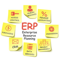 Erp stickers vector