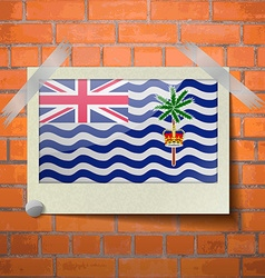 Flags british indian ocean territory scotch taped vector
