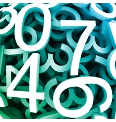 Set of digital numbers blue background vector