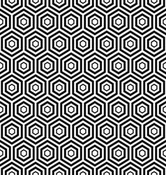 Seamless black hexagon pattern background vector