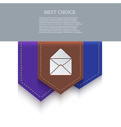 Bookmark icon eps10 vector