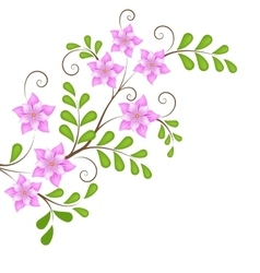 Floral design element for page decoration vector