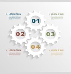 Paper gears infographic vector