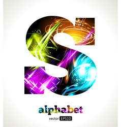 Design abstract letter s vector