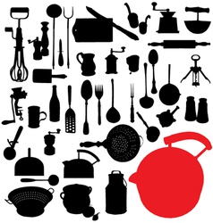 Traditional kitchen tools vector