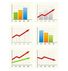 Six different business graph vector