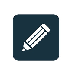 Pencil icon rounded squares button vector