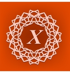 Monogram x vector