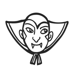 Vampire face doodle vector