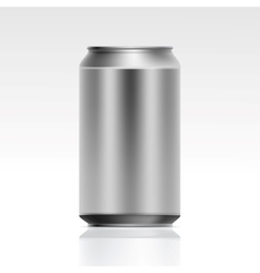 Realistic metal can vector