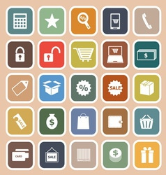 Shopping flat icon on orange background vector