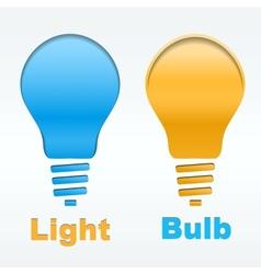 Creative light bulb label design vector