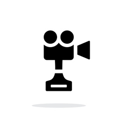 Camera cup simple icon on white background vector