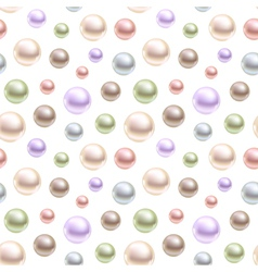 Spherical pearls of different colors vector