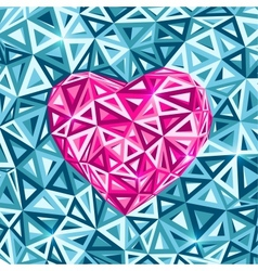 Pink abstract valentines day heart vector