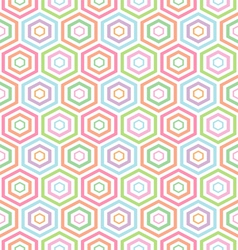 Seamless pastel hexagon pattern background vector