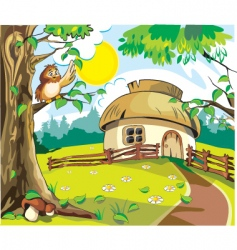 Country cottage vector