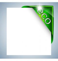 Eco label tag vector