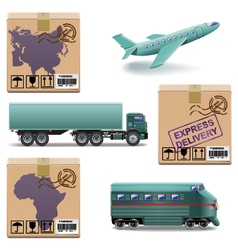 Shipment icons set 27 vector