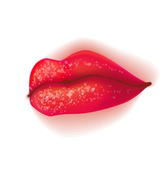 Glamour lips isolated vector
