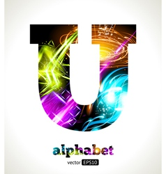 Design abstract letter u vector