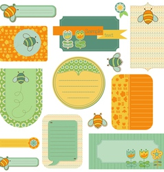 Baby scrap with bee vector