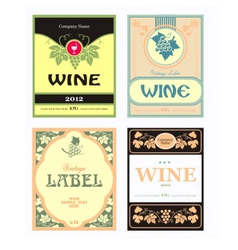 Set of wine label vector