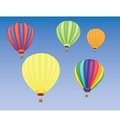 Hot air ballons vector