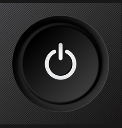 Black plastic power button vector