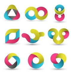 Modern shape set vector