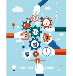 Business and entrepreneurship business start vector