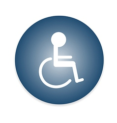 Signs disabled toilet vector